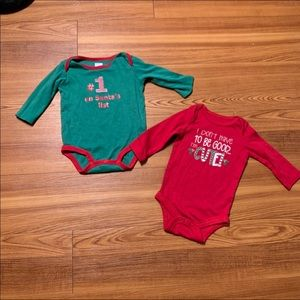 Two Christmas Onesies